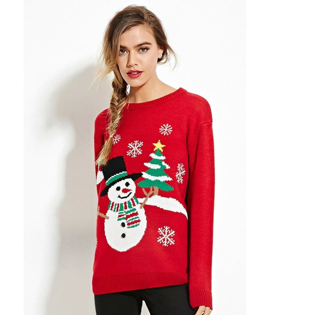 Christmas Sweater Women Sweaters And Pullovers Ugly Christmas Sweater Jumper Pull Femme Winter Fall - Vietees Shop Online