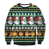 Unisex Sweaters Fashion Santa Claus Tree Reindeer Patterned Sweater Ugly Christmas Sweaters - Vietees Shop Online