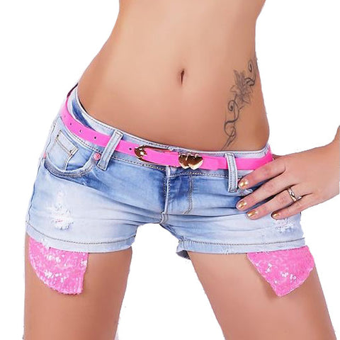 Sexy Women High Waist Destroyed Denim Mini Jeans Hole Shorts Tassels - Vietees Shop Online