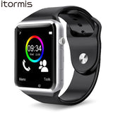 ITORMIS W31 Bluetooth Smart Watches Smartwatch Clever Watch Phone Sport Fitness Pedometer Tracker A1 for Android PK DZ09 GT08 - Vietees Shop Online