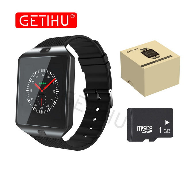 GETIHU Smart Watch DZ09 Digital Wrist with Men Bluetooth Electronics SIM Card Sport Smartwatch For iPhone Samsung Android Phone - Vietees Shop Online