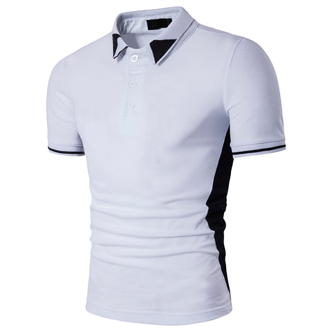 Classic white polo shirt man single breasted polo people cultivate one's morality short sleeve polo shirt - Vietees Shop Online