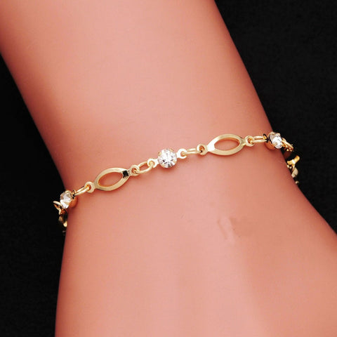 2018 Fashion Crystal Charm Bracelets for Women Gold Color Jewelry valentines day gift - Vietees Shop Online