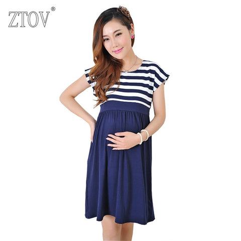 ZTOV Women Long Dresses Maternity Nursing Dress for Pregnant Women - Vietees Shop Online