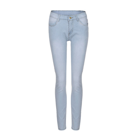 Women Skinny Denim Jeans Pants High Waist Stretch Slim Pencil Trousers - Vietees Shop Online
