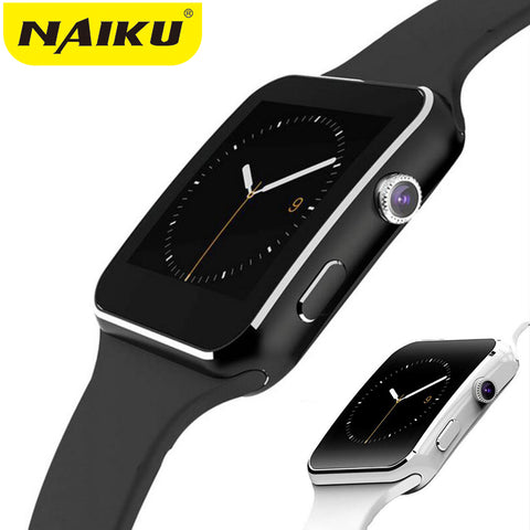 NAIKU Bluetooth Smart Watch X6 Sport Passometer Smartwatch with Camera Support SIM Card Whatsapp Facebook for Android Phone - Vietees Shop Online