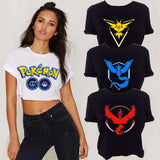 Pokemon Go T-Shirt Women Team Valor Mystic Instinct Summer Short-Sleeve TShirt Pokemon Go T Shirt Female Short Section T-Shirt - Vietees Shop Online - 1