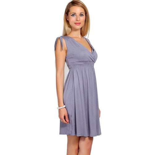 Envsoll 2018 Summer Maternity Dresses V-neck Breastfeeding Maternity Clothes - Vietees Shop Online