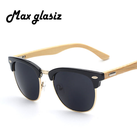 2016 New brand designer bamboo sunglasses wood for women men vintage glasses retro mens gafas oculos oculos de sol madeira - Vietees Shop Online
