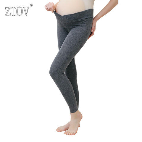 ZTOV 2018 Autumn Maternity Leggings Low Waist Pregnancy Belly Pants For Pregnant women - Vietees Shop Online