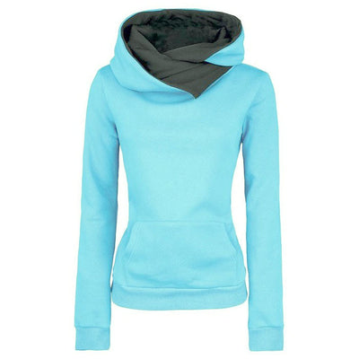 2016 Autumn Winter Women Casual Solid Hoodies Unisex Lapel Hooded New Sweatshirts Pullovers Turn-down Collar WBA0010 - Vietees Shop Online