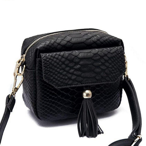 Simple Alligator Crocodile Leather Mini Small Women Crossbody bag Shoulder Bag Purse Handbag - Vietees Shop Online