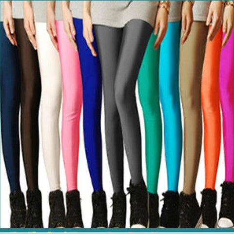 Sexy Solid Candy Neon Plus Size Women's Leggings High Stretched Jeggings Fitness Clothing Ballet Dancing Pant - Vietees Shop Online