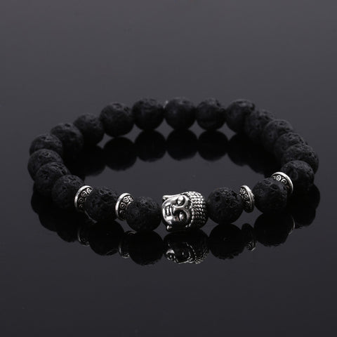 2015 Fashion jewelry Natural stone buddha beads bracelet men elastic rope chain charm bracelet for women Pulseras mujer - Vietees Shop Online