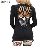 Skull Hollow Out Women Sweaters Knitted Long Sleeve Cardigans Spring Summer Thin Cardigans Sexy Blusas Mujer Body Top Plus Size - Vietees Shop Online