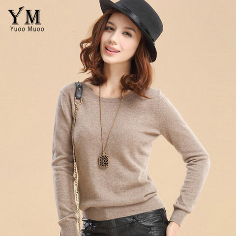 YuooMuoo High Quality Cashmere Sweater Women Winter Pullover Solid Knitted Sweater Top for Women Autumn Female Oversized Sweater - Vietees Shop Online