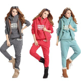 Casual 3 Piece Set Tracksuit Women Clothes 2018 Winter Ladies Thicken Sweat Suits Ropa Sport Suit Women Warm - Vietees Shop Online