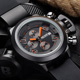 Top Luxury Brand Men Sports Watches Men's Quartz Chronograph 6 Hands 24 Hours Clock Man Military Wrist Watch Relogio Masculino - Vietees Shop Online