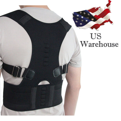 Aptoco Magnetic Therapy Posture Corrector Brace Shoulder Back Support Belt - Vietees Shop Online