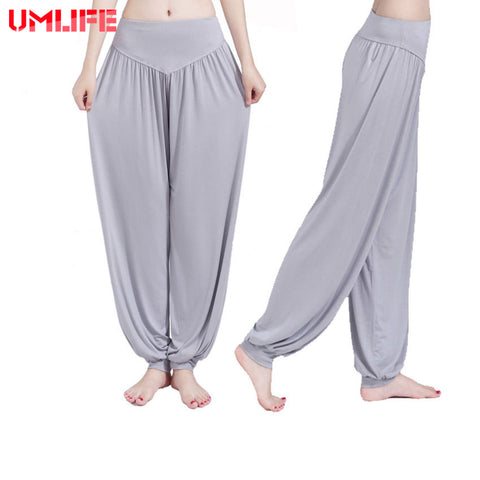 UMLIFE Yoga Pants Women Plus Size Sports Pants Bloomer Dance Taichi Candy Color Full Length Pants Hot Sale Fitness Breathable - Vietees Shop Online