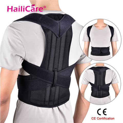 Back Posture Corrector Shoulder Lumbar Brace Spine Support Belt Adjustable Adult Corset - Vietees Shop Online