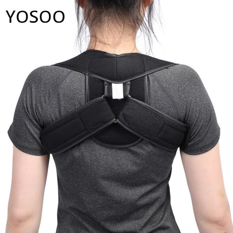 Adjustable Upper Back Shoulder Support Posture Corrector Adult Children Corset Spine Brace - Vietees Shop Online