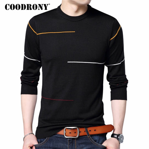 Cashmere Wool Sweater Men Brand Clothing Slim Warm Sweaters O-Neck Pullover Men Top 7137 - Vietees Shop Online