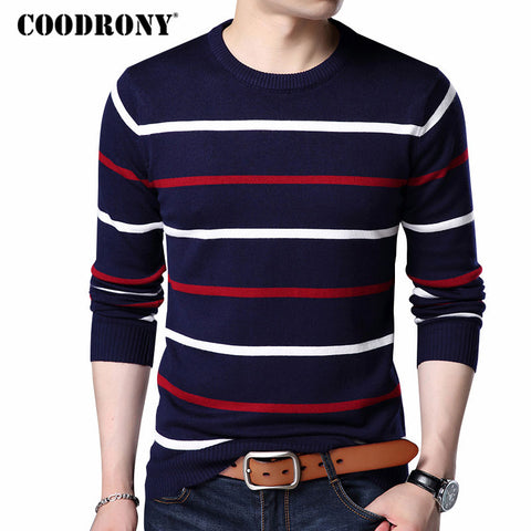 O-Neck Pullover Men Brand Clothing Cashmere Wool Sweater Men Casual Striped Pull Men 152 - Vietees Shop Online
