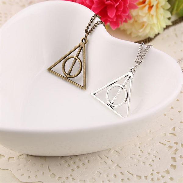 Vintage Harri Potter Pendant Necklace Rotate Deathly Hallows Friendship Valentine Gift - Vietees Shop Online