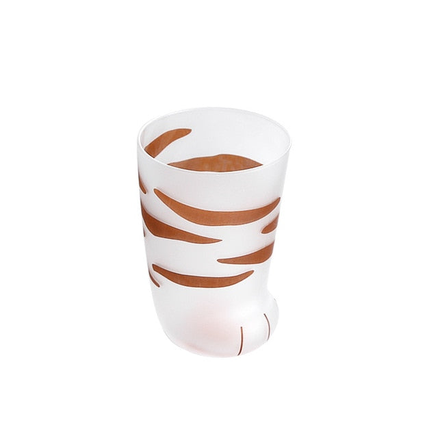 Creative Cute Cat Paws Glass Tiger Paws Mug Office Coffee Mug Tumbler Personality Breakfast Milk Porcelain Cup Gift - Vietees Shop Online
