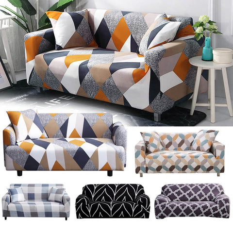 Stretch Slipcovers Sectional Elastic Stretch Sofa Cover for Living Room Couch Cover L shape Armchair Cover Single/Two/Three seat - Vietees Shop Online