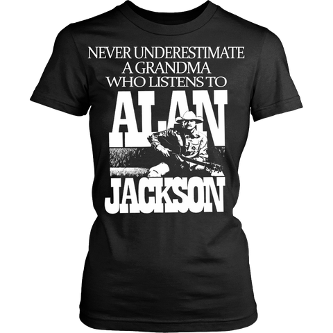 Never Underestimate a Grandma who listens to Alan Jackson T-shirt - Vietees Shop Online