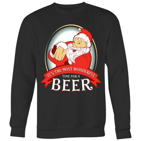Wonderful Time For A Beer With Santa T-shirt - Vietees Shop Online