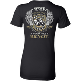 NEVER underestimate the power of a woman with a bicycle - Vietees Shop Online