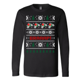 Motorcycle biker braaap christmas ugly sweater xmas - Vietees Shop Online