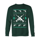 Assault Rifle Ugly Christmas Sweatshirt - Vietees Shop Online - 1