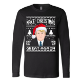 Make Christmas Great Again Ugly Sweater Donald Trump 2016 - Vietees Shop Online - 3