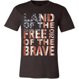 Land Of The Free Because Of The Brave 4th of July Patriotic - Vietees Shop Online