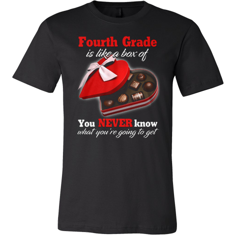 4th Grade Teacher - Box of Chocolates T-shirt - Vietees Shop Online - 1