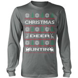 Chrismas deer hunting ugly sweater - Vietees Shop Online - 10