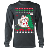 Christmas Ugly Sweater - SHIH TZU DOG - Vietees Shop Online - 9