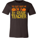 You can't scare me I'm a 1st grade teacher T-Shirt - Vietees Shop Online