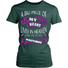 Image of A BIG PIECE OF MY HEART LIVES IN HEAVEN AND HE IS MY FATHER T-SHIRT - Vietees Shop Online