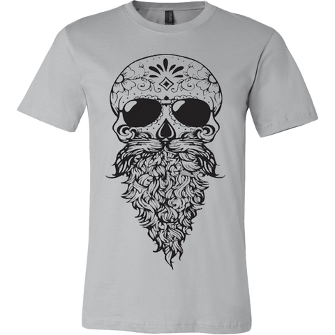 Bearded Sugar Skull T-shirt - Vietees Shop Online