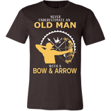 Never Underestimate An Old Man With A Bow & Arrow T-Shirt - Vietees Shop Online