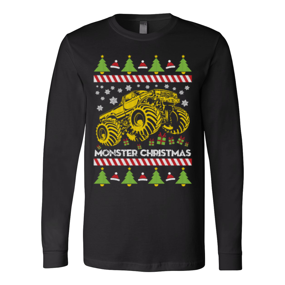 Monster truck ugly christmas sweater - Vietees Shop Online