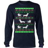 Dachshund and Santa Ugly Christmas Sweater Hoodie - Vietees Shop Online