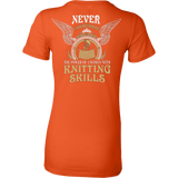 Never Underestimate The Power Of A Woman With Knitting Skills - Vietees Shop Online