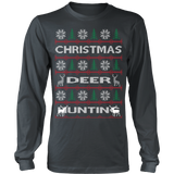 Chrismas deer hunting ugly sweater - Vietees Shop Online - 9