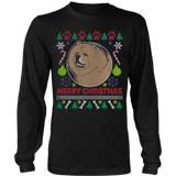Chow Chow Dog Breed Ugly Christmas Sweater Hoodie - Vietees Shop Online - 7